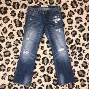 Abercrombie & Fitch - bootcut - distressed jeans